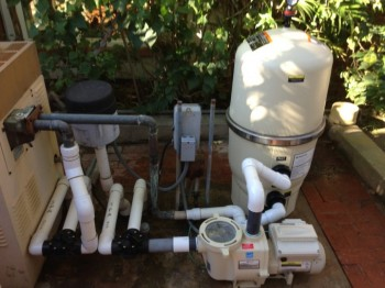 la jolla cal pool pump and filter installation completed