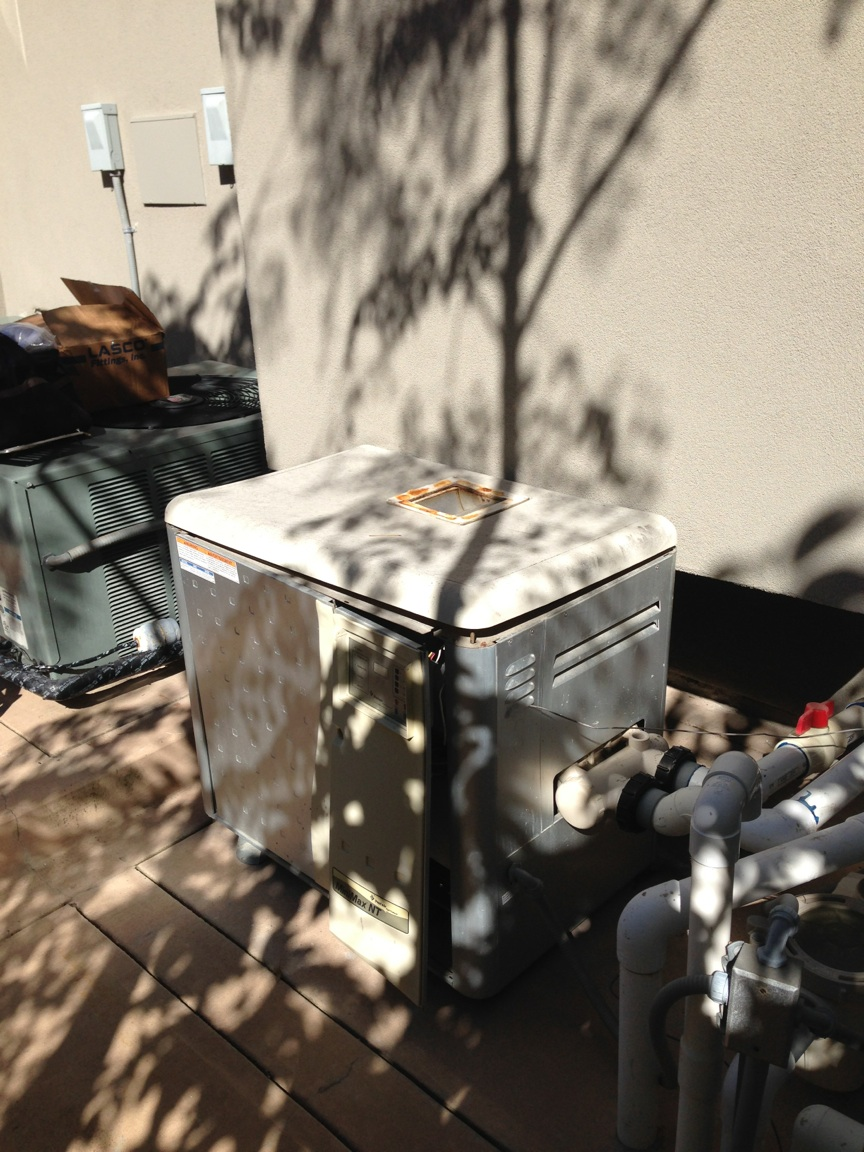 New Pentair Master Temp Pool Heater Installation In La