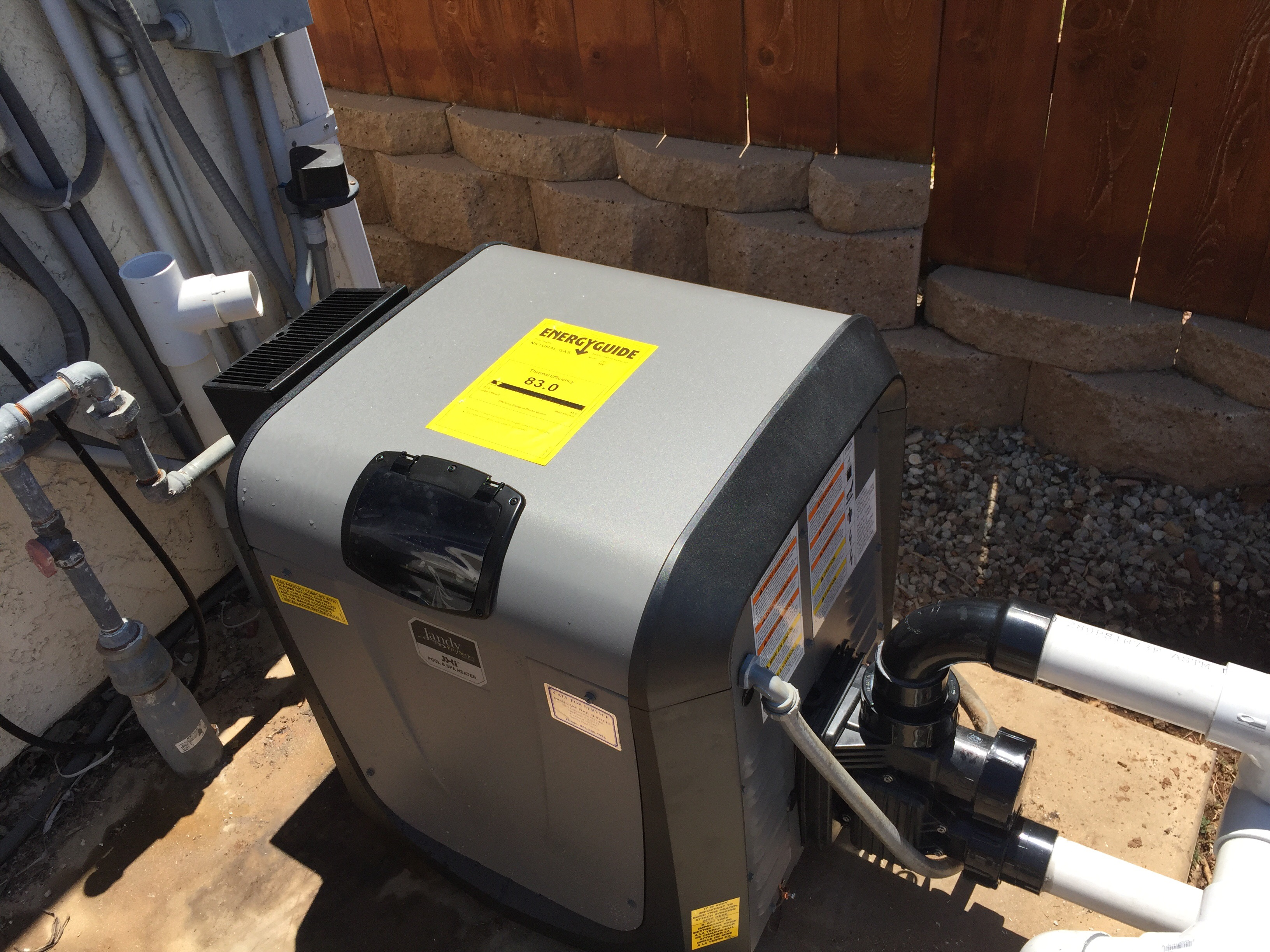 La Jolla Jandy Pool Heater Installation