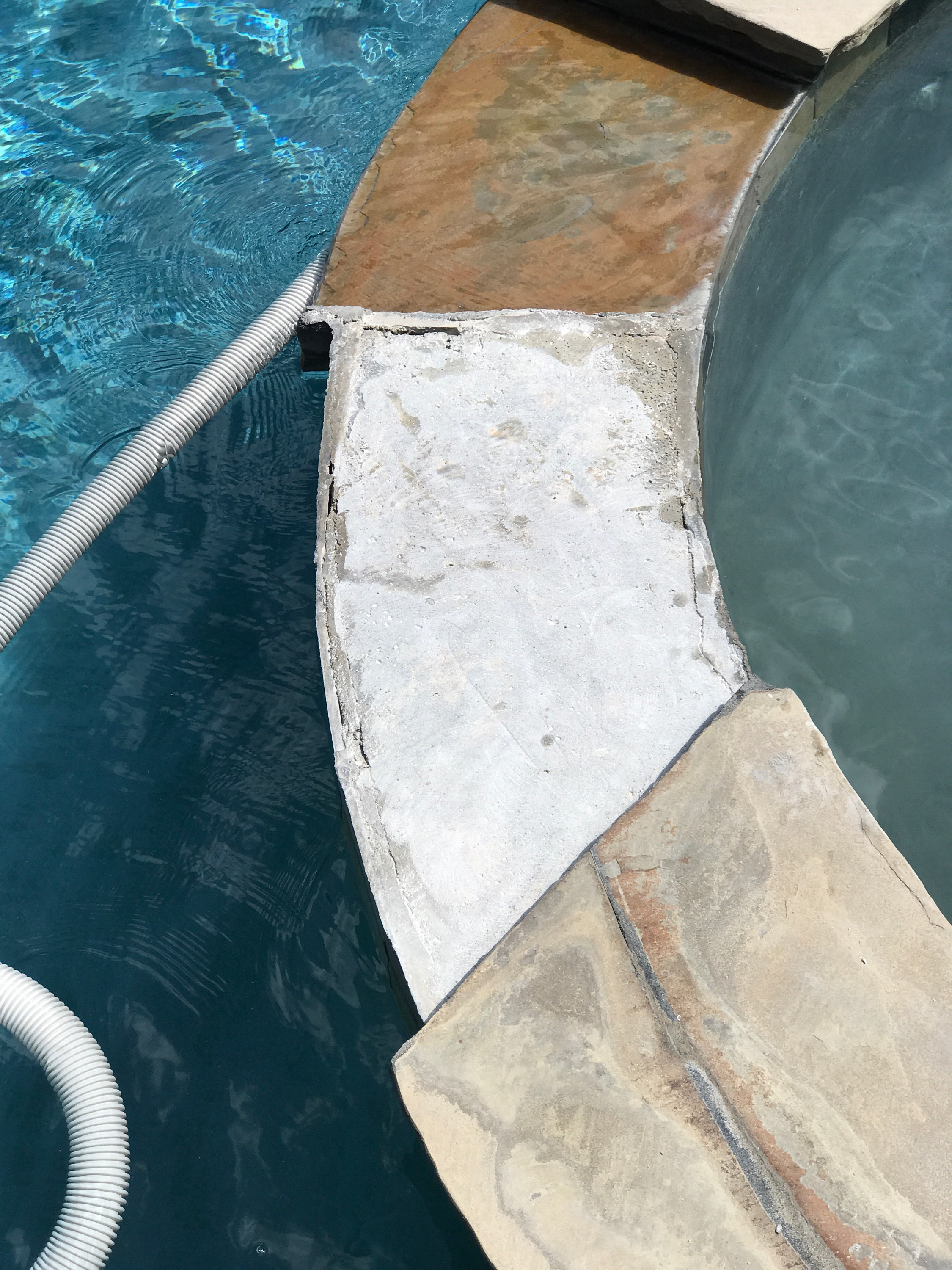 Pool Coping And Flagstone Repair In San Go