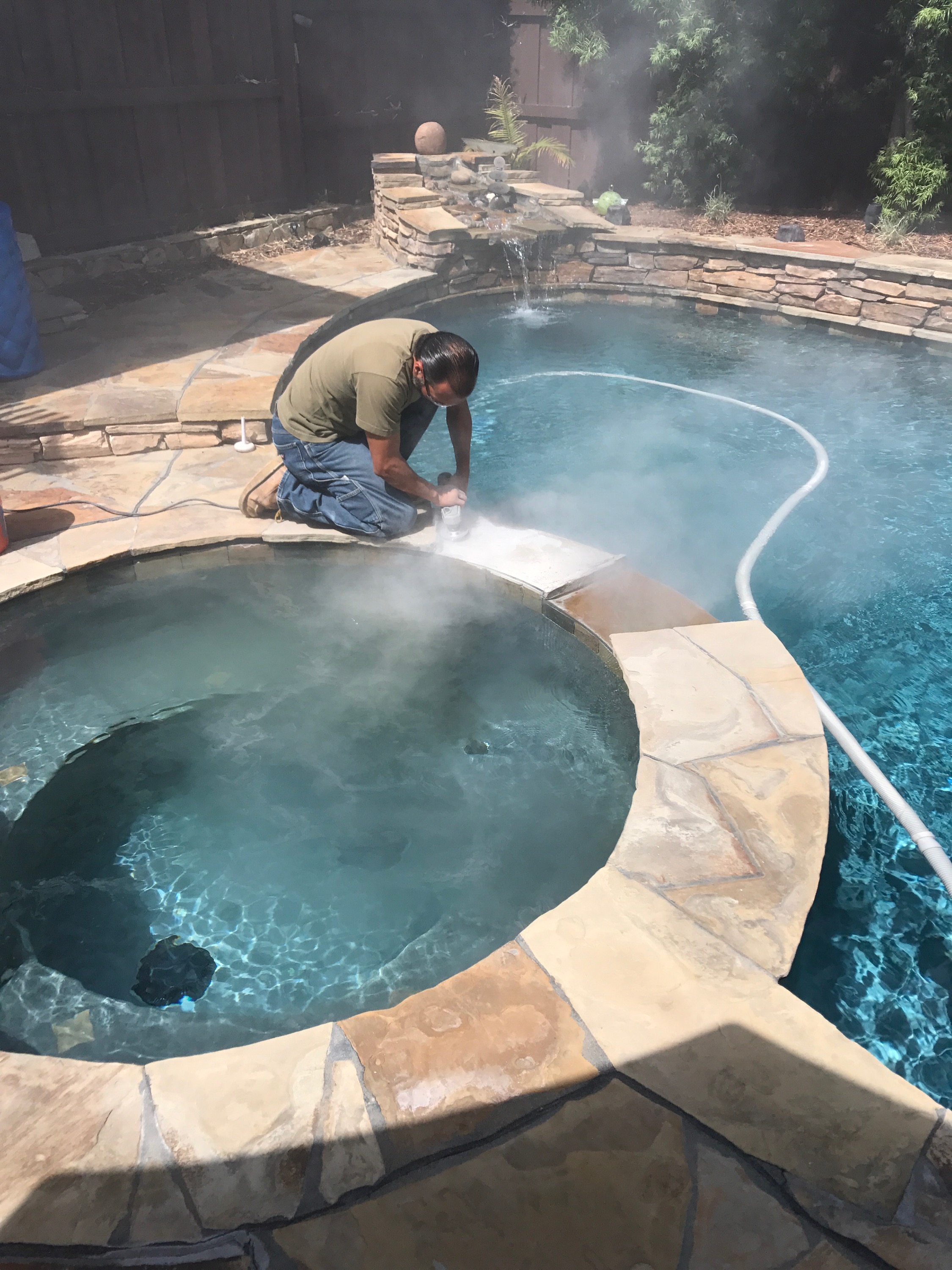 Pool coping repair san diego for Pool service