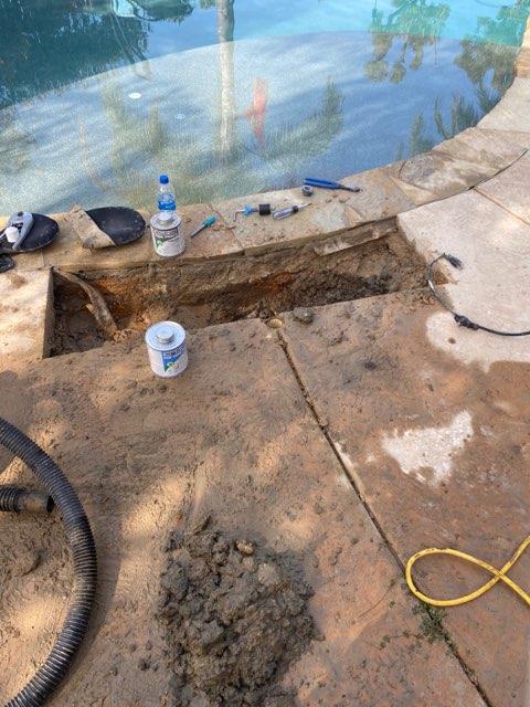 leak near pool coping